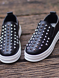 Baby Shoes Wedding / Outdoor / Casual Leather Loafers Black / White