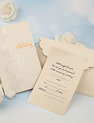 Personalized Side Fold Wedding Invitations Invitation Cards-50 Piece/Set Pearl Paper