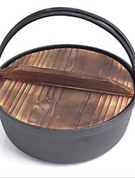 ferro fundido guisado tigela tampa de madeira&tigela de macarrão