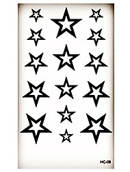 (1pcs)HC08-Five-pointed Star New Design Fashion Temporary Tattoo Stickers Temporary Body Art Waterproof Tattoo Pattern