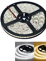 JIAWEN® 5 M 300 5050 SMD Blanc chaud / Blanc Etanche 60 W Bandes Lumineuses LED Flexibles DC12 V