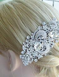 Bridal Hair Accessories Silver-tone Wedding Hair Comb Rhinestone Flower Hair Comb Bridal Hair Comb Wedding Headpiece