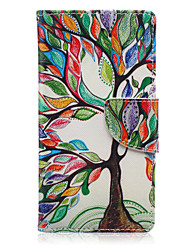 For Huawei Case / P9 Lite / P8 / P8 Lite Card Holder / Wallet / with Stand Case Full Body Case Tree Hard PU Leather HuaweiHuawei P9 Lite