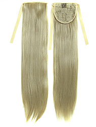 22 pouces Honey Blonde morceaux de cheveux synthétiques pince droite en ruban queue de cheval