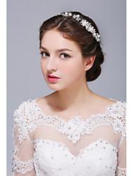 Femme Argent pur Alliage Imitation de perle Casque-Mariage Occasion spéciale Décontracté Serre-tête 1 Pièce