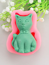 Cat  Shaped Soap Molds Mooncake Mould Fondant Cake Chocolate Silicone Mold, Decoration Tools Bakeware
