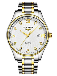 GUANQIN® High Quality Luxury Fashion Style Japanese Quartz Diamond Watch Steel Band Waterproof Watches for Women Cool Watcheses With Watch Box