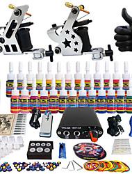 solong tattoo compleet tattoo kit pro 2 machinegeweren 28 inkten voeding naald grips