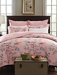 floral ensemble de 4pcs ponçage tissu épais pour l'automne de literie&saisons d'hiver utilisation