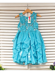 Vestido Chica de - Verano - Poliéster - Azul / Rojo