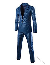 Informell V-Ausschnitt - Langarm - MEN - Anzüge ( Baumwoll Mischung )