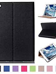 7,9 Zoll zwei Faltungsmuster Qualitäts-PU-Lederkasten für ipad mini 4 (farbig sortiert)