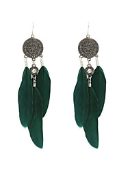 Fashion Women Vintage Feather Dangle Earrings