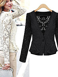 Shimu Woman'S Autumn Lace Jacket Hollow Lace Cardigan Jacket Coat
