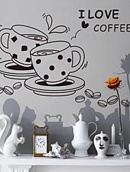 caneca fashion hora do chá decoração de parede avião adesivos de parede, removível pvc