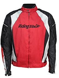 Riding Tribe Motorcycle Shockproof Riding Jackets  Motorbike Protective Windproof Racing Jacket  (Red)