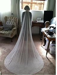 Wedding Veil One-tier Wave Point Tulle Chapel Veils Metal Comb