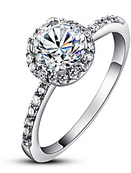 Women's Luxury Round Diamonds Simulator Engagement Ring