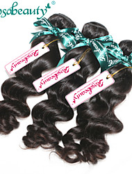 Hot Selling Peruvian Virgin Hair Loose Curly 3Pcs/Lot 100% Peruvian Human Hair Weaves Bundles Natural Color Braid Hair