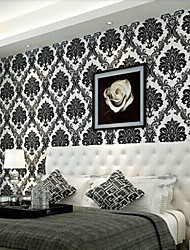 Floral Wallpaper Contemporary Wall Covering , Non-woven Paper 0.53m*10m