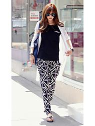 Women's Print Black Harem Pants , Sexy / Casual ,Plus Size