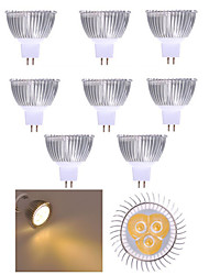 10pcs 3W MR16 350LM Warm/Cool White Light LED Spot Lights(12V)