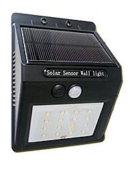 Lâmpada de sensor de movimento do painel solar powered 16led luz de segurança ao ar livre jardim luz