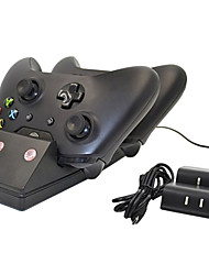 Dual Charger Dock + Recharge Battery for Microsoft Xbox One Wireless Controller