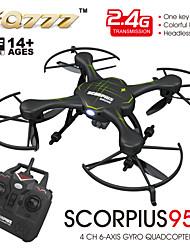 fq777-955c scorpius rc fotocamera in modalità quadcopter drone senza testa hd 720p 6axis giroscopio rtf