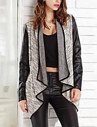 Damen Jacke  -  Leger Langarm Polyester / PU Medium