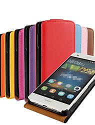 Voor Huawei hoesje / P8 Lite Flip hoesje Volledige behuizing hoesje Effen kleur Hard PU-leer Huawei Huawei P8 Lite