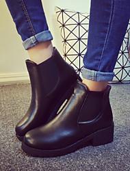 Stivali - Scarpe da donna - Tacco spesso - Tacco spesso DI PU - Nero