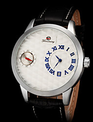 FORSINING Men's Luxury Classic Design Auto Mechanical Leather Strap Watch