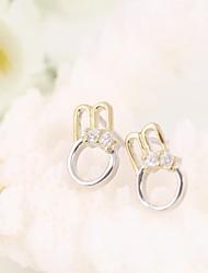 Tous jewelry silver earings 925 women korean tv drama fine jewelry cute girl 3a cz stud earrings brincos vintage