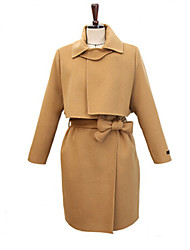 2015 winter women's new Korean fashion in a double breasted coat from long wool coat dress