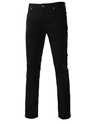 MEN - Pantaloni - Informale A vita medio-alta - magro Cotone / Misto cotone