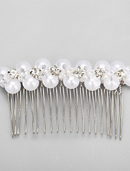 Women's / Flower Girl's Rhinestone / Alloy / Imitation Pearl Headpiece - Wedding / Special Occasion Hair Combs 1 Piece