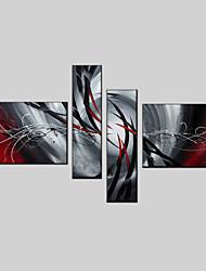Ölgemälde Satz von 4 modernen abstrakten, Canvas-Material mit gestreckten Rahmen bereit, hängen Größe: 50 * 70cm * 2pcs 25 * 70cm * 2St.
