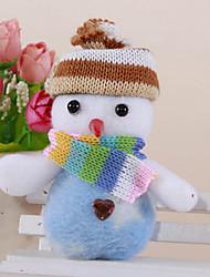 2pcs Christmas Cute Snowman Pendant Random Color