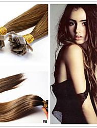 "18""-28"" Peruvian Virgin Hair Extension Flat Tip Hair Extension 1g/strand Pre bonded Hair Extension in Stocks"