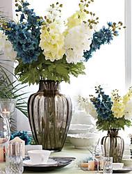 delphinium estilo rural ajacis flores de tela (1pcs)