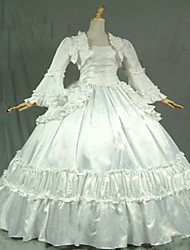 Gothic White Civil War Southern Belle Lolita Ball Gown Dress