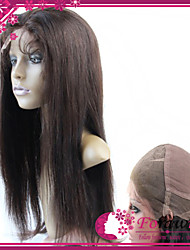 "10""-30"" Top Quality Brazilian Human Hair Full Lace Wigs 130% #1 #1B #2 #4 Straight Glueless Wigs"