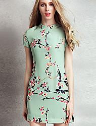 Homecoming Knee-length Chiffon Bridesmaid Dress - Ink Blue Plus Sizes A-line/Princess Jewel