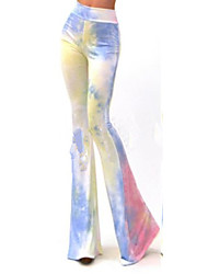 Women's Color Block Multi-color Bootcut Pants , Casual / Party