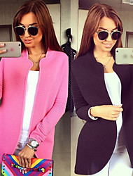 Women's Solid Color Coats & Jackets , Casual Work Square Long Sleeve