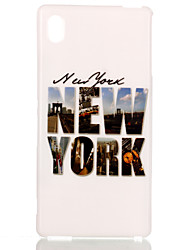 NewYork Pttern TPU Soft Cover for Sony M4