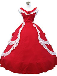 Steampunk®Red Civil War Southern Belle Ball Gown Dress Victorian Dress Halloween Party Dress