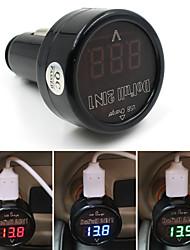 12v / 24v цифровой вольтметр 5v 2.1a автомобильного прикуривателя USB зарядное устройство для Samsung
