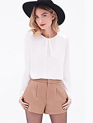 Women's Round Neck Long Sleeve Shirt